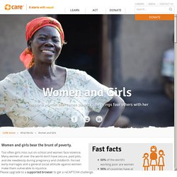 Women and girls - CARE Australia