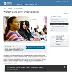 Women's and girls' empowerment