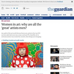 Women in art: why are all the 'great' artists men?