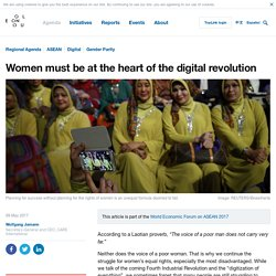 Women must be at the heart of the digital revolution