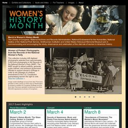 Women's History Month (Library of Congress)