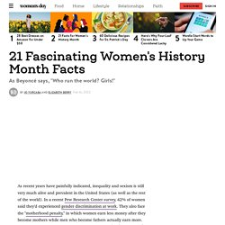 21 Women's History Month Facts — Facts About Women's History