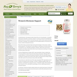 Women's Hormone Support | Ray and Terry's Longevity Products