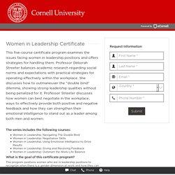 Women in Leadership Certificate