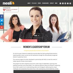 WLA & NESLI Women's Leadership Forum