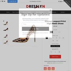 Buy Women Leopard Print High Heel Shoes