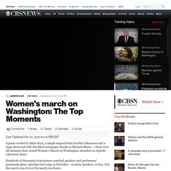 Women's march on Washington: The Top Moments