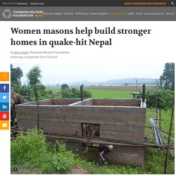 Women masons help build stronger homes in quake-hit Nepal