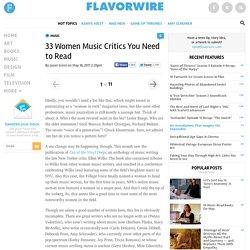 33 Women Music Critics You Need to Read