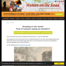 Women on the Road - Start Here