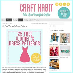 25 Free Women's Dress Patterns : CraftHabit.com