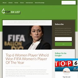 6 Women Player Who'd Won FIFA Women's Player Of The Year