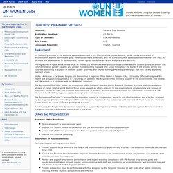 UN WOMEN Jobs - 43879- UN Women: Programme Specialist