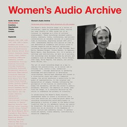 Women's Audio Archive