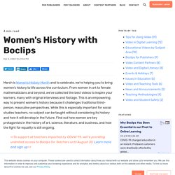 Women's History with Boclips