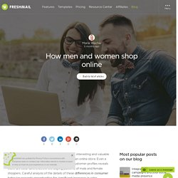 How men and women shop online