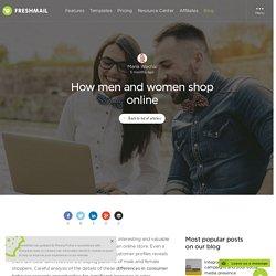 How men and women shop online
