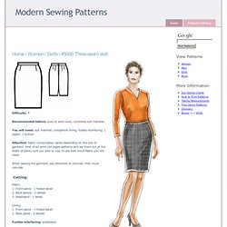 Skirts :. #5088 Three-seam skirt
