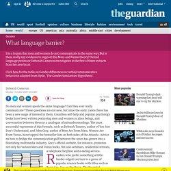 Do men and women speak the same language?