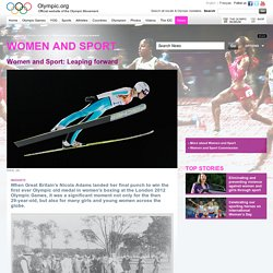 Women and Sport Leaping forward