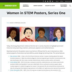 Women in STEM Posters, Series One