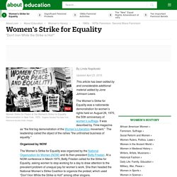 Women's Strike for Equality - August 26, 1970