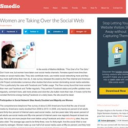 Women are Taking Over the Social Web