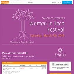 Women in Tech Festival 2015- Eventbrite
