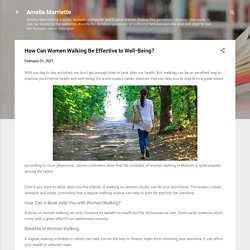 How Can Women Walking Be Effective to Well-Being?