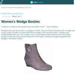 Women's Wedge Booties