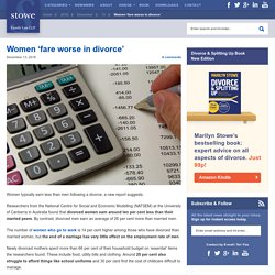 Women 'fare worse in divorce'