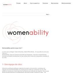 Womenability, qu'est-ce que c'est ? - Womenability