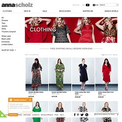 Plus Size Shop Online, Designer Clothes Store Shopping, Size 12 - 28, Anna Scholz