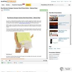 Buy Womens Designer Summer Short Pants Online – Odemai Shop