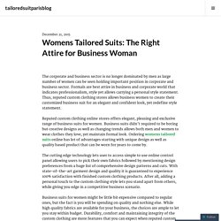 Womens Tailored Suits: The Right Attire for Business Woman