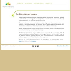 For Rising Women Leaders