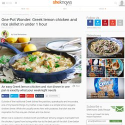 One-Pot Wonder: Greek lemon chicken and rice skillet in under 1 hour