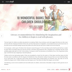 10 wonderful books that all children should read