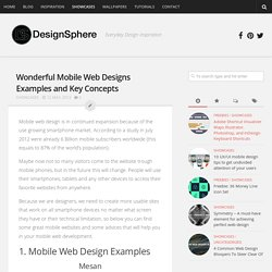 Wonderful Mobile Web Designs Examples and Key Concepts - DesignSphere