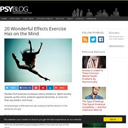 20 Wonderful Effects Exercise Has on the Mind