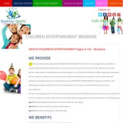 Find the Best Place to Celebrate Kids Entertainment Party in Sydney - Sparrowsports.com.au