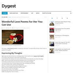 Wonderful Love Poems For Her You Can Use - Dygest