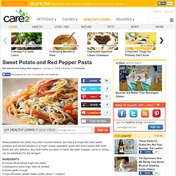 Wonderful Vegetarian Sweet Potato and Red Pepper Pasta