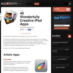 40 Wonderfully Creative iPad Apps
