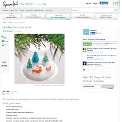 Christmas Craft: Winter Wonderland | Homemade Christmas Ornaments