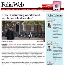 Foliaweb: 'UvA in schimmig wonderland van financiële derivaten'