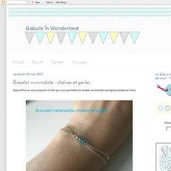 Bracelet minimaliste : chaînes et perles