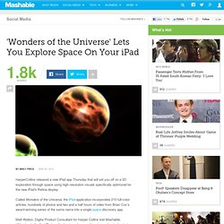 'Wonders of the Universe' Lets You Explore Space On Your iPad