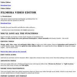 Filmora Wondershare Video Editor