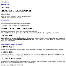 Filmora Wondershare Video Editor